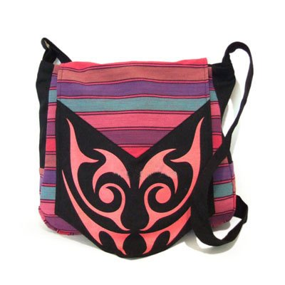 china yunnan cotton shoulder handbag in pattern of facial makeup