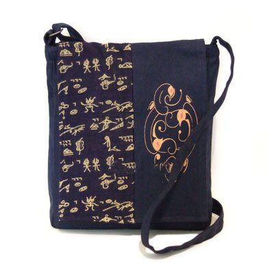 china yunnan cotton shoulder handbag in dongba scheme