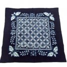 yunnan handmade  ethnic blue tablecloth by tie dye