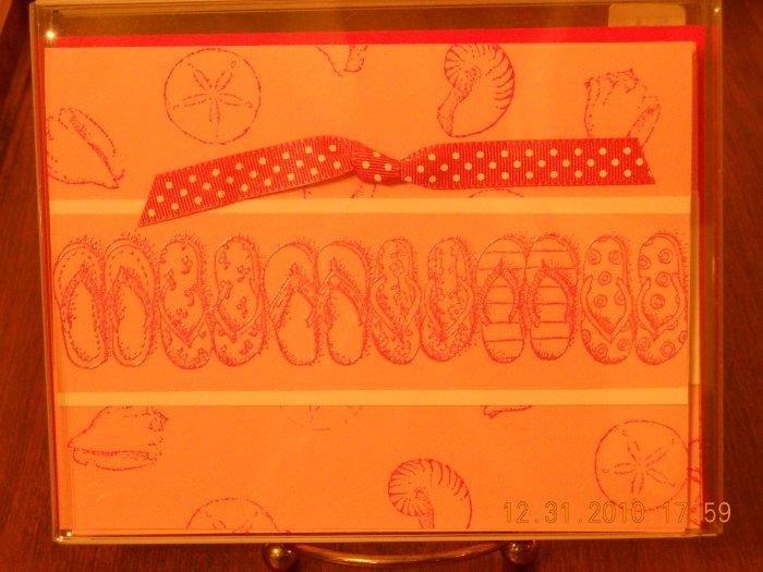 Pink Flip FlopsCard