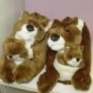 SLIPPERS HAPPY FEET KANGAROOS PLUSH CRITTER SUPER SOFT SIZE UNISEX SIZE LARGE NEW HOUSE SLIPPERS