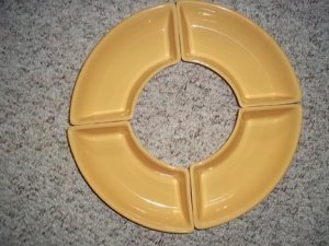 NO FREE SHIPPING-LONGABERGER POTTERY CRESCENT DISHES ~BUTTERNUT~NIB~USA