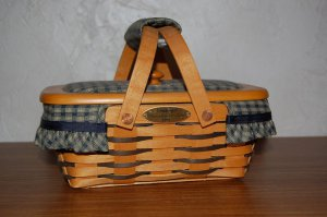 NO FREE SHIPPING-LONGABERGER 1999 HOMESTEAD WOVEN MEMORIES BASKET COMBO~ SIGNED