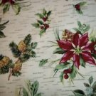 NO FREE SHIPPING-5 YARDS LONGABERGER HOLIDAY BOTANICAL FABRIC~NEW