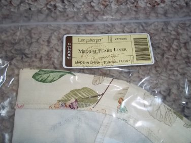 LONGABERGER BOTANICAL FIELDS MEDIUM FLARE BASKET LINER