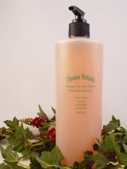 Transoz Natural Australian Tea Tree Oil Based Hand & Body Wash  16oz