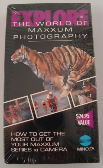 New!  Explore the World of Minolta Maxxum Photography VHS