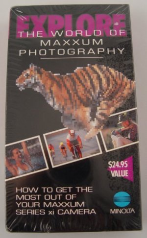 New!  Explore the World of Minolta Maxxum Photography VHS
