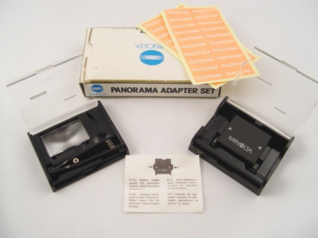 Minolta Panorama Adapter Set with Focusing Screen P Like New