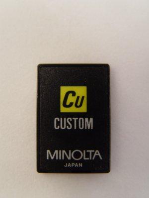 Minolta Custom Program Card for use with Maxxum 7000i & 8000i