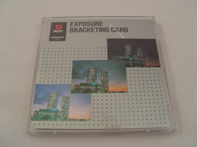 Minolta Maxxum Exposure Bracket Program Card for 5xi, 7xi, 9xi, 700si