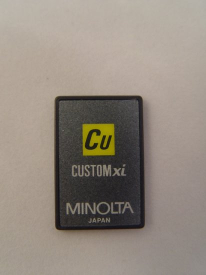 Minolta Maxxum Custom xi Program Card for 7xi & 9xi