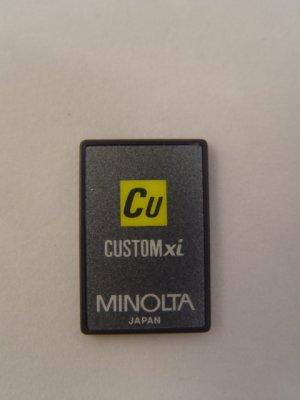 Minolta Maxxum Custom xi Program Card for 7xi & 9xi
