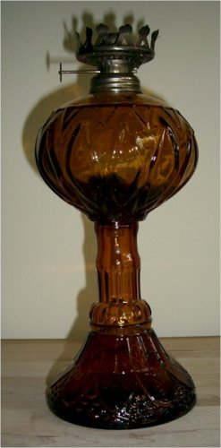 Dark Amber Oil Lamp - Hong Kong