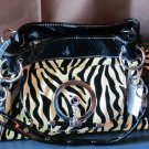 Eye-Catching Zebra-Striped Handbag