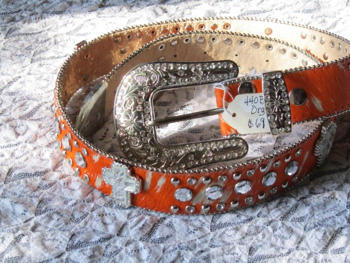 Orange Brindle Belt-Women's Medium