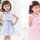 2011Baby Girls one-piece dress Kids skirt baby dress Short sleeve dresses Toddler petticoats clothes