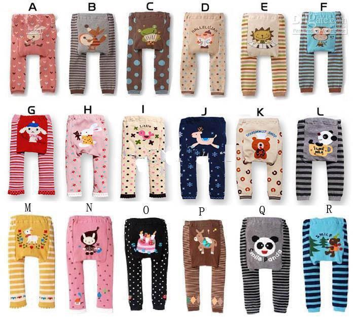 Wholesale cotton 24designs baby pant kids' legging  20pcs