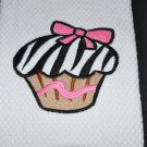 """Zebra Print"" Cupcake Kitchen Dishtowel"