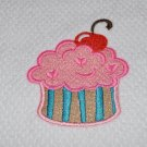 """Pink Puff"" Cupcake Kitchen Dishtowel"