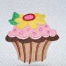 """Flower Frosted"" Cupcake Kitchen Dishtowel"