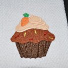 """Carrot"" Cupcake Kitchen Dishtowel"