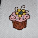 """Delectable Flower"" Cupcake Kitchen Dishtowel"