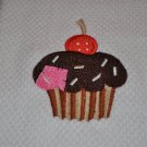"Crafty Cupcake ""With Button"" Kitchen Dishtowel"