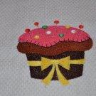 "Crafty Cupcake ""With Pins"" Kitchen Dishtowel"