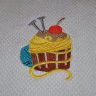 "Crafty Cupcake ""Yarn & Needles"" Kitchen Dishtowel"