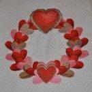 """""""Heart Wreath"""" Valentines Day Kitchen Dishtowel"""