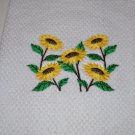 """""""Sunflower Bunch"""" Kitchen Dishtowel"""