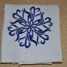 """""""Pinwheel"""" Snowflake Christmas Kitchen Dishtowel"""
