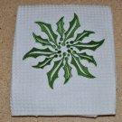 """""""Holly"""" Snowflake Christmas Kitchen Dishtowel"""