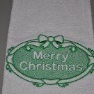 """Merry Christmas"" Christmas Kitchen Dishtowel"