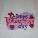 """""""Happy Valentines Day"""" Valentines Day Kitchen Dishtowel"""