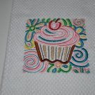 """Mola Cupcake Square"" Kitchen Dishtowel"