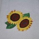 """Sassy Sunflowers"" Kitchen Dishtowel"