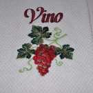 """""""Grapes w/Vino"""" Kitchen Dishtowel"""