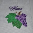 """Grapes w/Wine"" Kitchen Dishtowel"