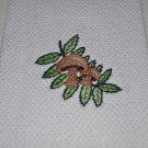 """Mushroom & Leaves"" Kitchen Dishtowel"