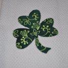 "St. Patrick's Day ""Filigree Shamrock"" Kitchen Dishtowel"