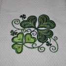 "St. Patrick's Day ""Jacobean Shamrock"" Kitchen Dishtowel"