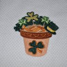 """""""Blooming For St. Patrick's Day"""" Kitchen Dishtowel"""