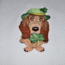 """St. Patrick's Day Basset Hound"" St. Patrick's Day Kitchen Dishtowel"