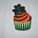 """Irish Green Cupcake w/Shamrock"" St. Patrick's Day Kitchen Dishtowel"