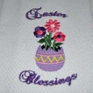 """Easter Blessings Egg"" Easter Kitchen Dishtowel"