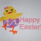 """""""Hatching Happy Easter Chick"""" Easter Kitchen Dishtowel"""