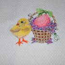 """Vintage Easter Chick"" Easter Kitchen Dishtowel"