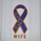 """NAVY WIFE RIBBON"" KITCHEN DISHTOWEL"